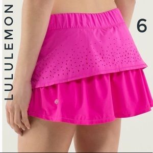 Lululemon in a Flash layered cut out Skort